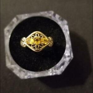 Lady's Citrine Ring in 10k Yellow Gold